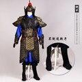 Chino antiguo traje generales período de tres reinos de la General , armadura demostración de la etapa rendimiento TV uso Hanfu traje
