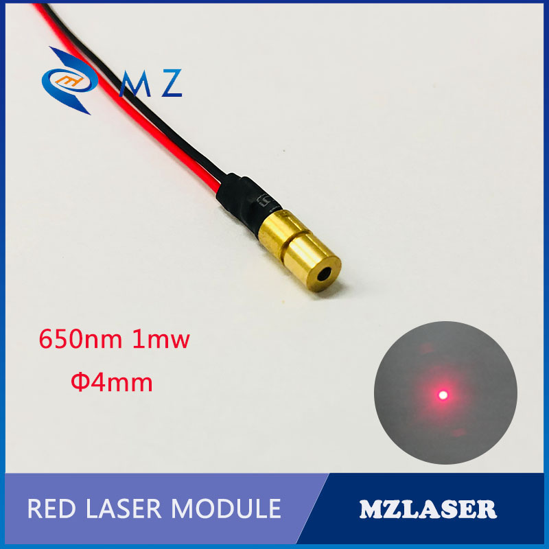 4mm650nm1mwMini Laser ClassII Red Laser Module Industrial Grade Red Point Laser