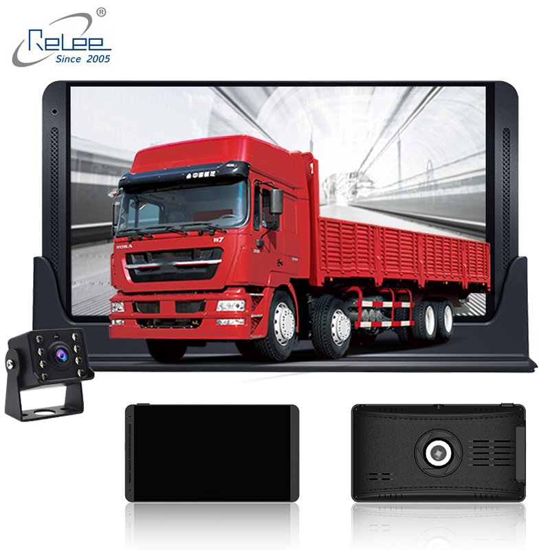 Image 2 - Relee RLDV 11 Truck dvr camera system touch screen Dash Cam Dual FHD 1920x1080P   Video Recorder  7.0Inch car black box-in DVR/Dash Camera from Automobiles & Motorcycles