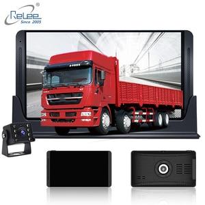 Image 2 - Relee RLDV 11 Vrachtwagen dvr camera systeem touch screen Dash Cam Dual FHD 1920x1080 P Video Recorder 7.0 Inch auto black box