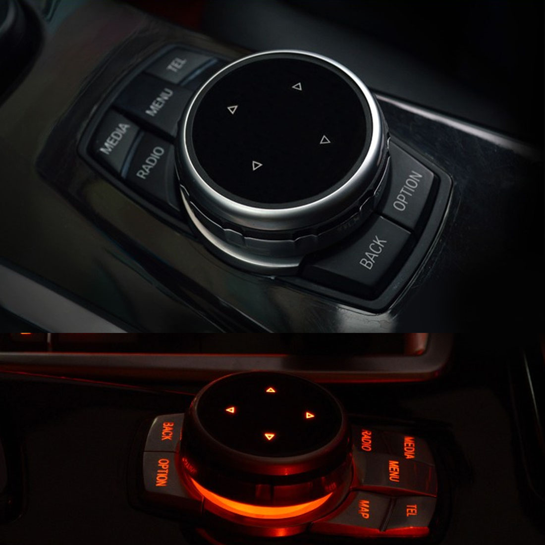 Auto Multimedia Tasten Abdeckung M Emblem Aufkleber für BMW X1 X3 X5 X6 F30 E90 E92 F10 F18 F11 F07 GT Z4 F15 F16 F25 E60 E61