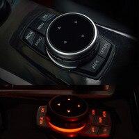 Dewtreetali IDrive Car Multimedia Buttons Cover M Emblem Stickers For BMW X1 X3 X5 X6 F30