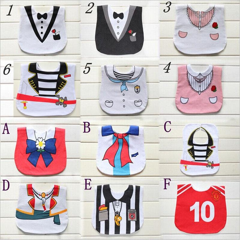 CN Retail 0-3 лет новорожденных отрыжка ткань Младенческая Слюна Полотенца детское платье моделирование нагрудник Водонепроницаемый детские нагрудники