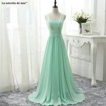 Vestidos boda invitada mujer new tulle chiffon sexy V neck A line mint green royal blue pink champag
