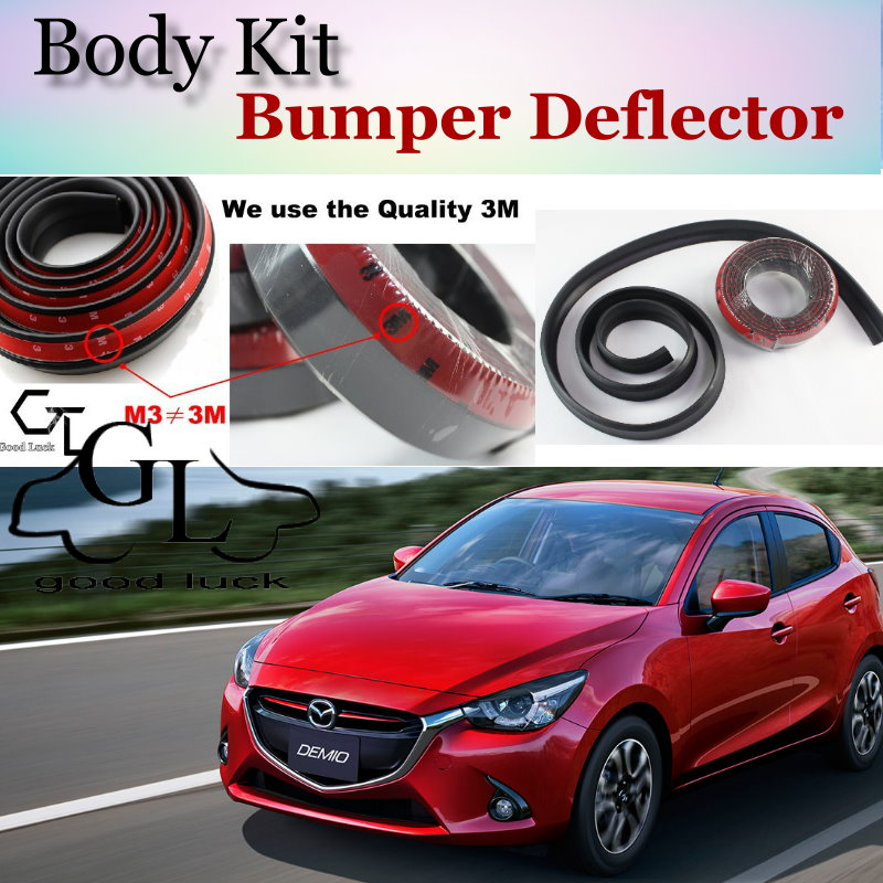 Body Kit For <font><b>Mazda</b></font> <font><b>2</b></font> For Mazda2 M2 Demio DW DY DE DJ Bumper Lip / Front <font><b>Spoiler</b></font> Deflector For Car View Tuning / Strip Skirt image
