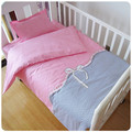 Promotion! 3PCS Kitty Mickey Baby Bedding Set for Crib Newborn Baby Bed Linens for Girl Boy ,Duvet Cover/Sheet/Pillow Cover,