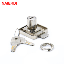 NAIERDI-138 Copper Drawer Lock Cabinet Latch Cupboard Desk Hasp Locks With Computer Keys For Furniture Hardware Home Improvement furniture drawer locks office lock core 22mm 32mm length cabinet desk lock home hardware with 2 keys