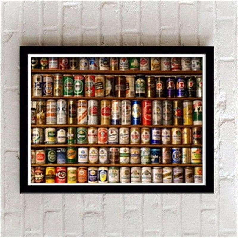 Encadrée affiches Bière Toile Peinture bar creative personnalité toilette mur peintures Moderne murale 28X23 CM