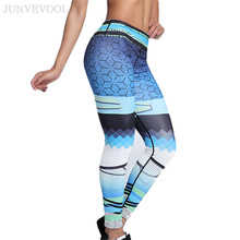 cfb4c3120c683 Cartoon Splendid Scenery 3D Printing Leggings Women Elegance Color Gradual  Change Skinny Sportswear Full Trousers Stylish