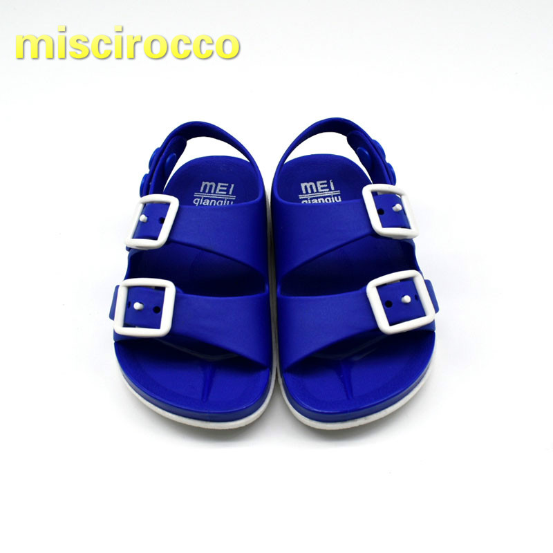 Summer Childrens Boys Plastic Sandals Soft Fashion Open Toe Baby Beach Shoes Quick Drying