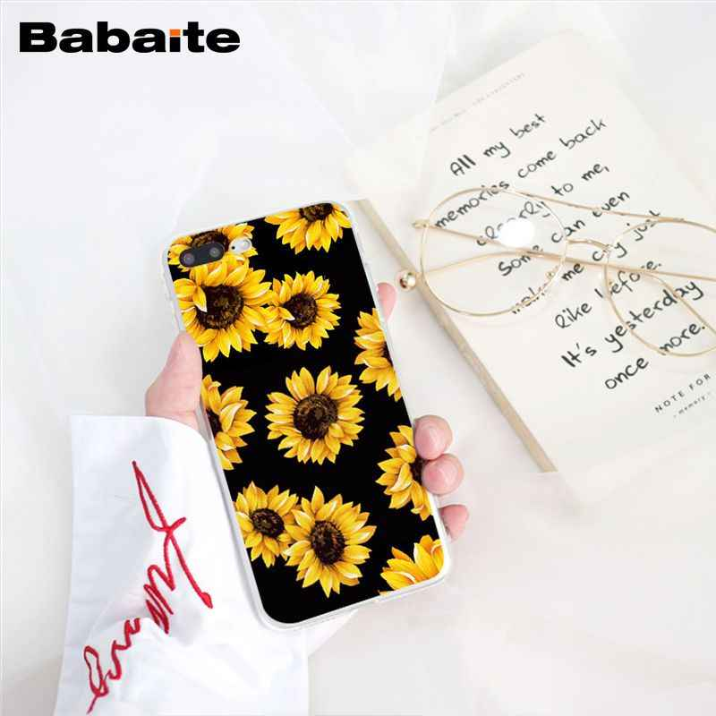 Babaite Peony ดอกทานตะวัน Rose Daisy Plum ดอกไม้โทรศัพท์สำหรับ iphone 11 Pro 11Pro สูงสุด 8 7 6 6S plus X XS MAX 5 5S SE XR