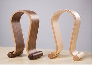 Image 2 - Hot selling Omega Shape Wood Stand Bracket Wooden Headset Display Bracket for A K G Sennhei Grado Sony large size headphones