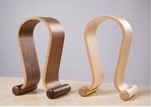 Image 2 - מכירה לוהטת אומגה צורת עץ Stand סוגר עץ אוזניות תצוגת סוגר K G Sennhei Grado Sony גדול גודל אוזניות