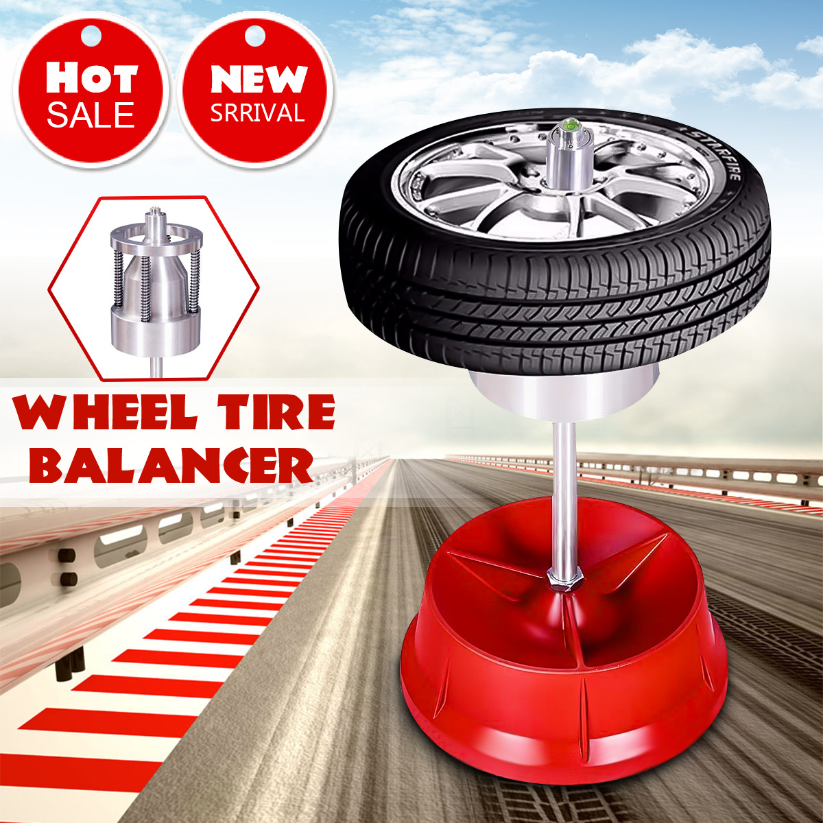 Car Truck Portable Hubs Wheel Tire Balancer Bubble Level Heavy Duty Rim Car Tire Wheel Balancer Auto Tyre Balancing Machine