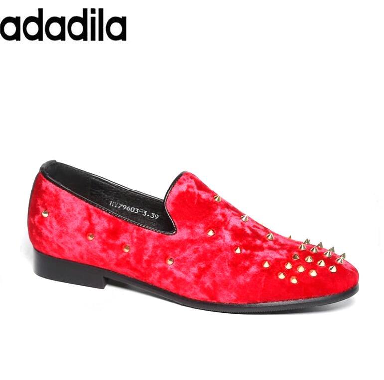 Hx39 Sapatos red Velvet Europa Chinelos Mocassins Black Casamento Homens Estilo Promoção Loafers outono blue De Veludo Primavera Condução Rebites Partido Hqwacg0A1