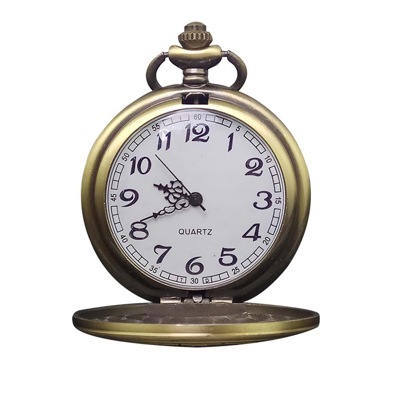 Retro Steampunk Quartz Pocket Watch Antique Bronze Women Men Pendant Necklace Chain Clock Classic
