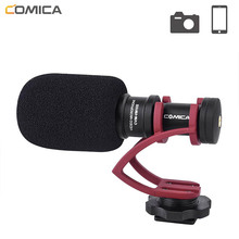 Comica CVM-VM10II Video Recording Mic On Camera/Phone Microphone for Canon Nikon Sony DSLR Camcorder iPhone Samsung