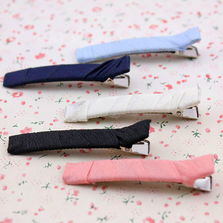 Pure color clear cloth headdress Around the cloth clip, free home delivery the pure abscess