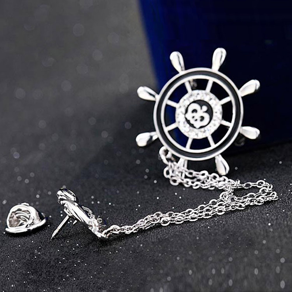 New Anchor Collar Brooches For Women Love Crystal Rhinestone Broches Jewelry  Fashion Brooch Men Suits Lapel Pins New Design In Brooches From Jewelry ...