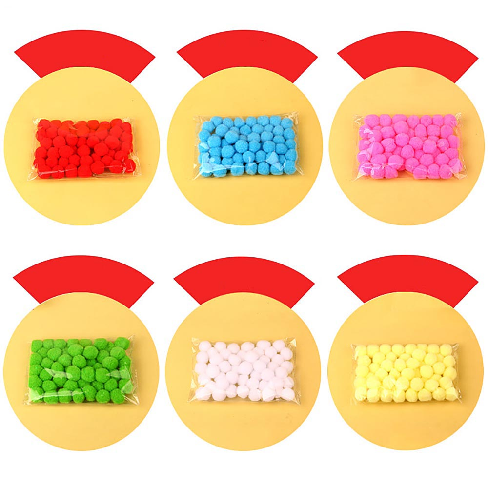 50 Pcs Bag 20mm Colorful Plush Ball Creative DIY Handmade Children Doll Toys