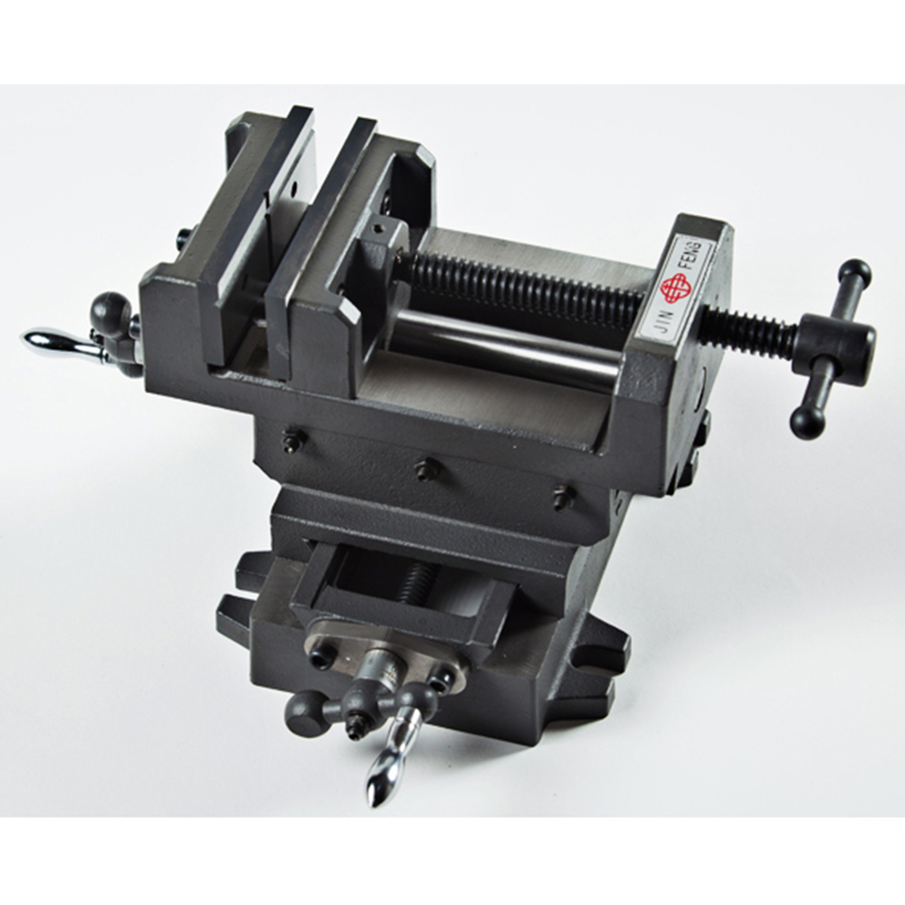 Double track 4 inch cross clamp machine vise for drilling milling machine