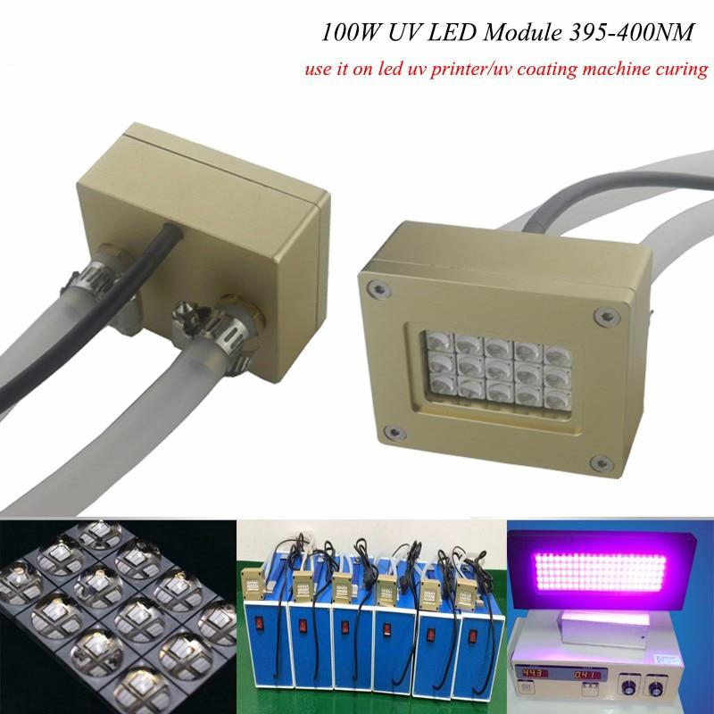 100 Вт uv led модуль УФ отверждения геля лампы, экспозиция печатной платы машины, ультрафиолетового обеззараживания оборудования, трафаретная