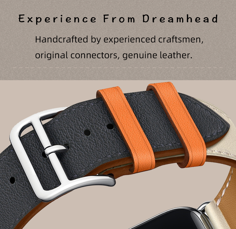 genuine leather single tour band with h logo for apple watch series 4 3 2  1, iwatch bands herm strap replacement belt 40 44mm