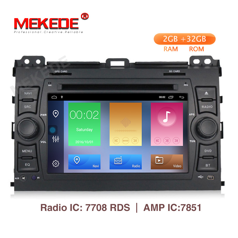 New arrival Mekede android 9 1 Car multimedia system for Toyota Prado 120 2004 2009 with