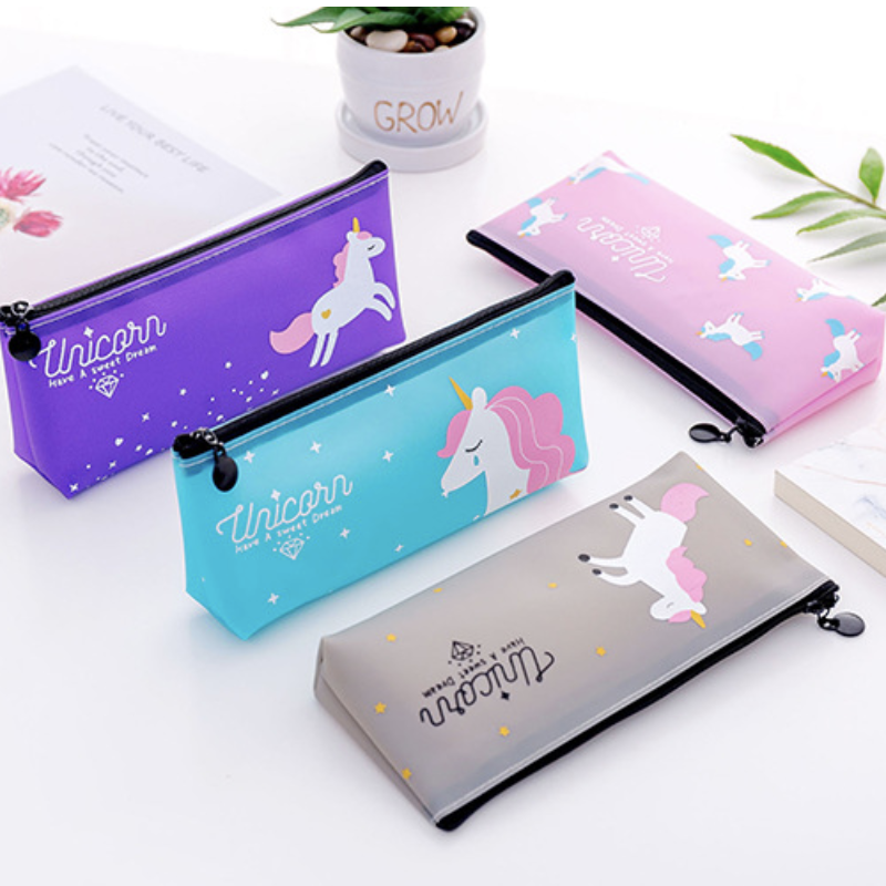 Creative Kawaii Unicorn/Flamingo Girl Heart Pencil Case