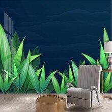 Fresh mood plant leaves landscape background wall