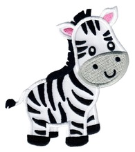 Custom embroidered Patches  Zebra Zoo Iron-On badge Applique Customized logo available factory direct