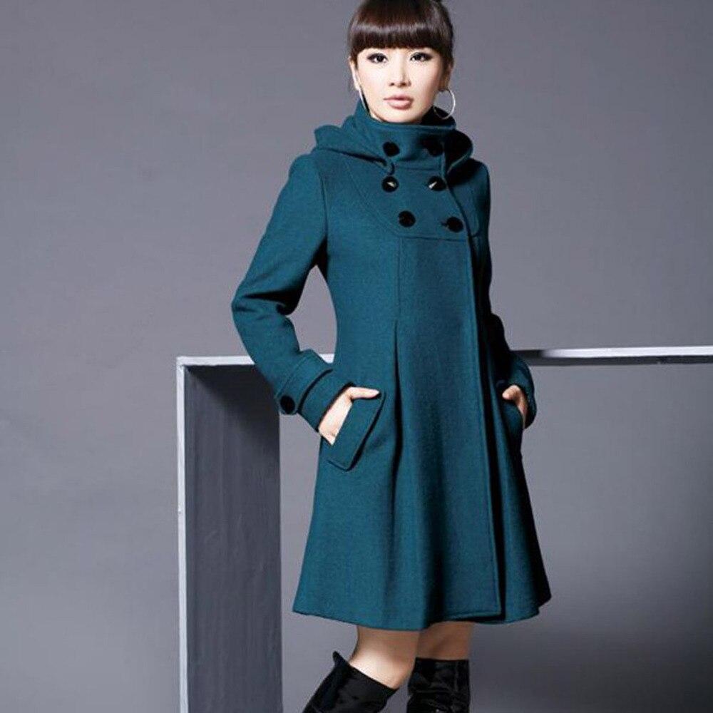 50ce92bc5c5 Fashion Ladies Hooded Winter Coat Parka Women Winter Furry Jacket ...