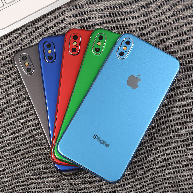 Luxury Bright Mobile Phone Stickers For iPhone 7 6 6S 8 Plus Back Protect Film Decal For iPhone X XS Sticker Adesivos Pegatinas