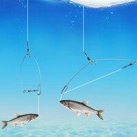 Otomatik tam hız balıkçılık kanca tembel kişi için paslanmaz çelik parçalar bahar artefakt evrensel mancınık balıkçılık aksesuarları #3|Balık Oltaları|   -