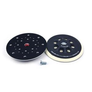 "Image 5 - 6 Inch(150mm) 17 Hole Dust free M8 Thread Back up Sanding Pad for 6"" Hook&ampLoop Sanding Discs, FESTOOL Grinder Accessories"