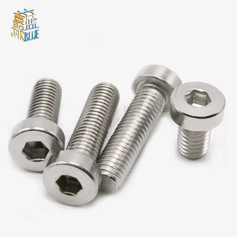 (50 pc/lot) M3,M4 *L sus304 stainless steel hex socket thin head cap model auto diy screw,DIN7984