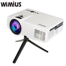 Wimius LCD Projetor Full HD 1200 lúmenes Mini LED Proyector Cine Cine en casa Proyector Multimedia Proyector de Videojuegos Para DVD PC