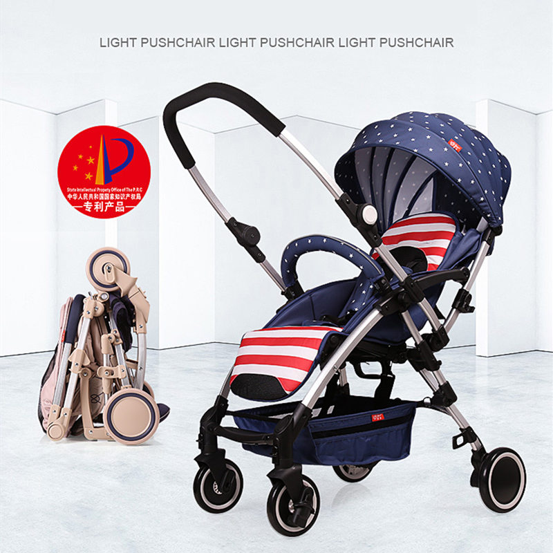Fashion Baby Stroller High-view Portable Bidirectional Foldable Aluminum Alloy, Shock Absorption Baby Pram Pushchair Buggys fashion baby stroller high view portable bidirectional foldable aluminum alloy shock absorption baby pram pushchair buggys