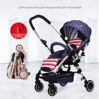 Fashion Baby Stroller High view Portable Bidirectional Foldable Aluminum Alloy, Shock Absorption Baby Pram Pushchair Buggys