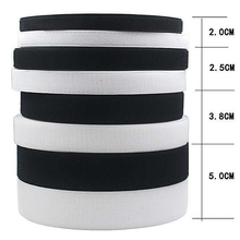 16/20/25/30/38/50/100mm*5m/Pair Adhesive Fastener Tape Sew-On Hook and Loop Black White Magic Tape Strip No Glue Sewing Accessor 2 5cm 5m pairs black white magic tape hook and loop self adhesive fastener tape strip with strong glue for home supplies
