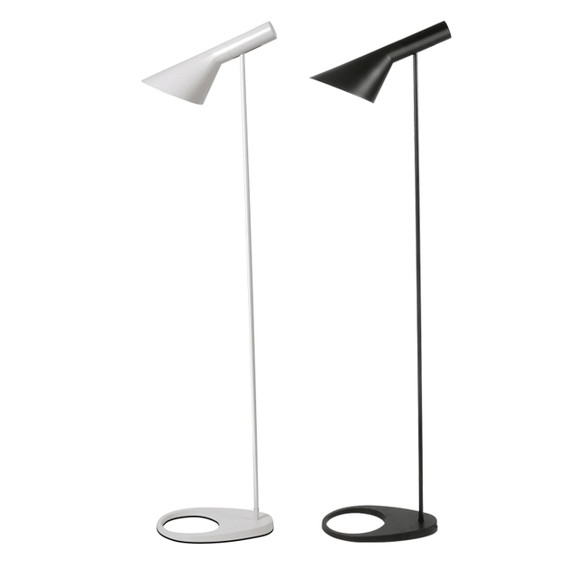 Simeple Floor Lamp Modern Standing Light Metal white black Floor ...