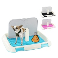 Reusable Pet Dog Cat Toilet Tray with Column Urinal Bowl Pee Training Litter Box Pet Accessories For Small Medium Large Dogs