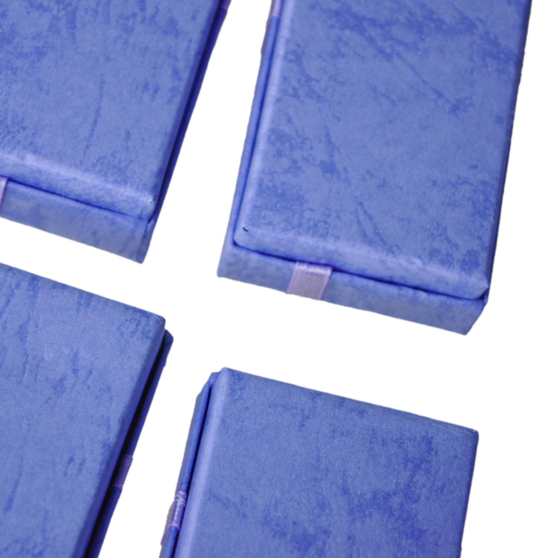 12 stücke Luxus Lila Farbe Papier Karte Schmuck Verpackung Geschenke Boxen Für Anhänger Armband Armreif Ohrring Ringe Schmuck Organizer