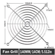 все цены на 50PCS Gdstime 140mm Metal Wire Finger Guard Protection Grid PC Fan Grill Cooler 14cm онлайн