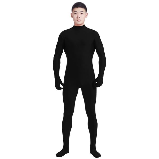 Ensnovo Men Lycra Spandex Suit Turtleneck Black Unitard One Piece Full Body  Custom Skin Tight No Head Unisex Cosplay Costumes 0c5b74b8599e