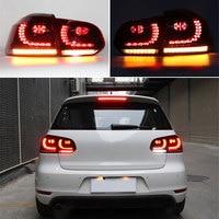 Dynamic Blinker Dark Red LED Tail light Lamp Fir For VW Golf Gti R GTD MK6 VI 6 2009 2013 Hatchback