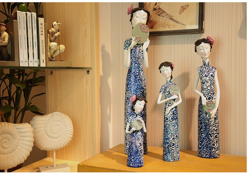 Online Shop Ornaments For Home Handmade Yunbing Lady Series Resin Figurine  Ornaments For Home Decoration Items