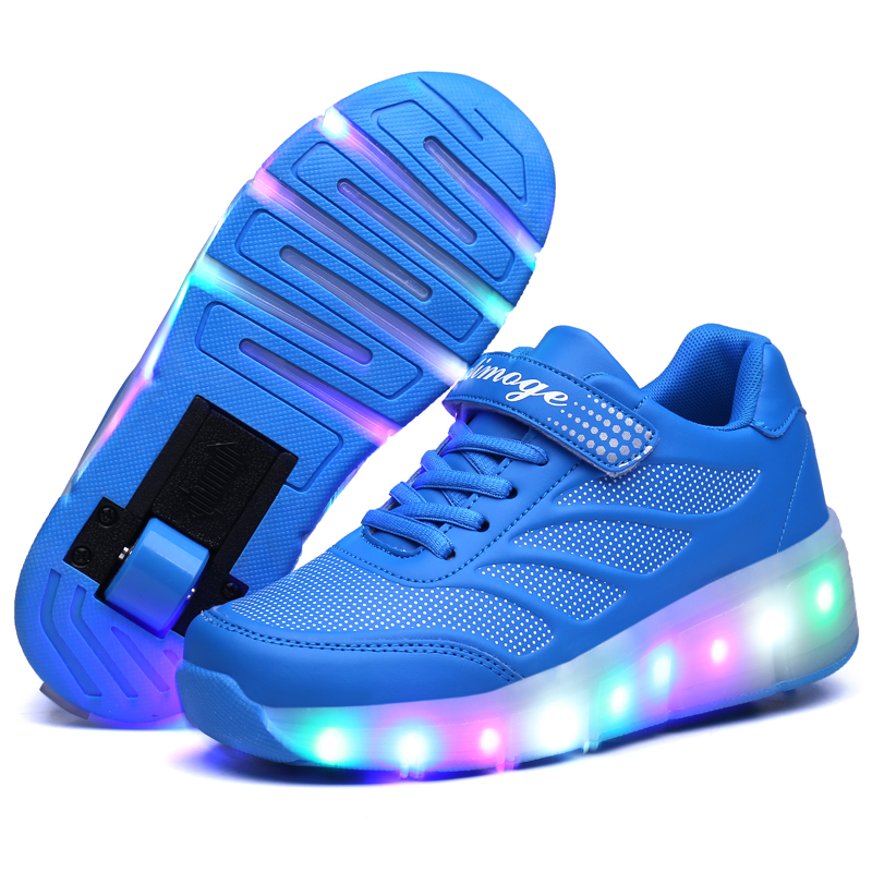 2017 Heelys New Design Causal Sneakers with Wheel Boy Spring Roller Skate Shoes Girl Zapatillas Zapatos Con Ruedas 16cm-24.5cm