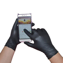 50/100PCS Black Disposable Gloves Latex Dishwashing/Kitchen/Medical /Work/Rubber/Garden Gloves Universal For Left and Right Hand