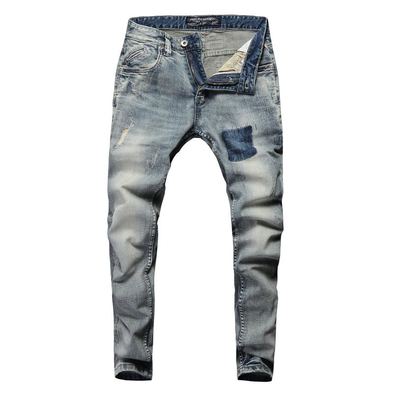 Vintage Design Fashion Men Jeans Stretch Slim Fit Elastic Cotton Denim Pants High Quality Classical Jeans For Men Ripped Jeans 6